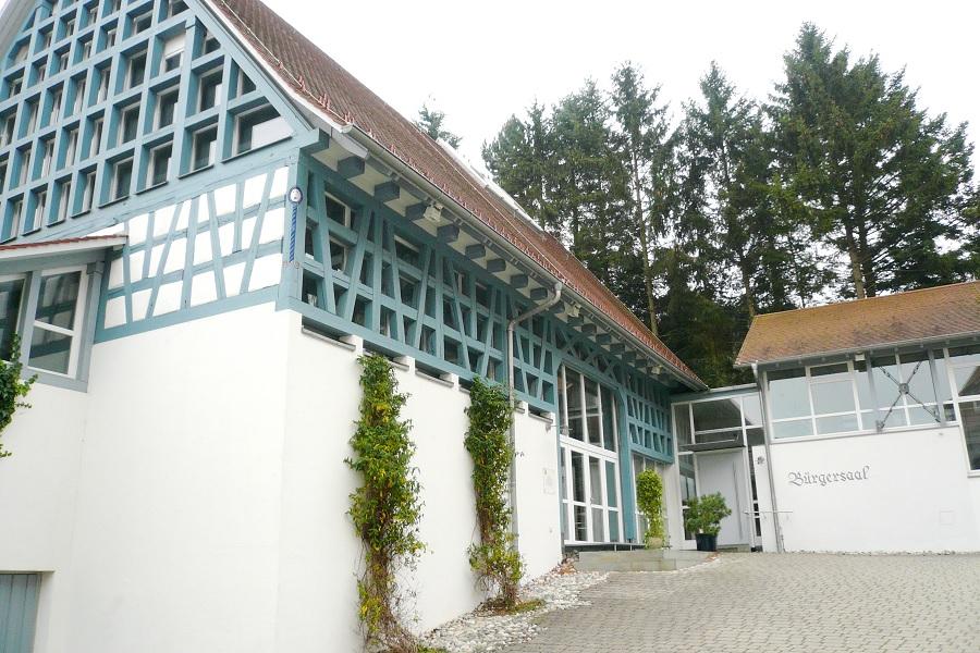 Oberstadion Bürgersaal Außenansicht; Historisches Ortszentrum Oberstadion