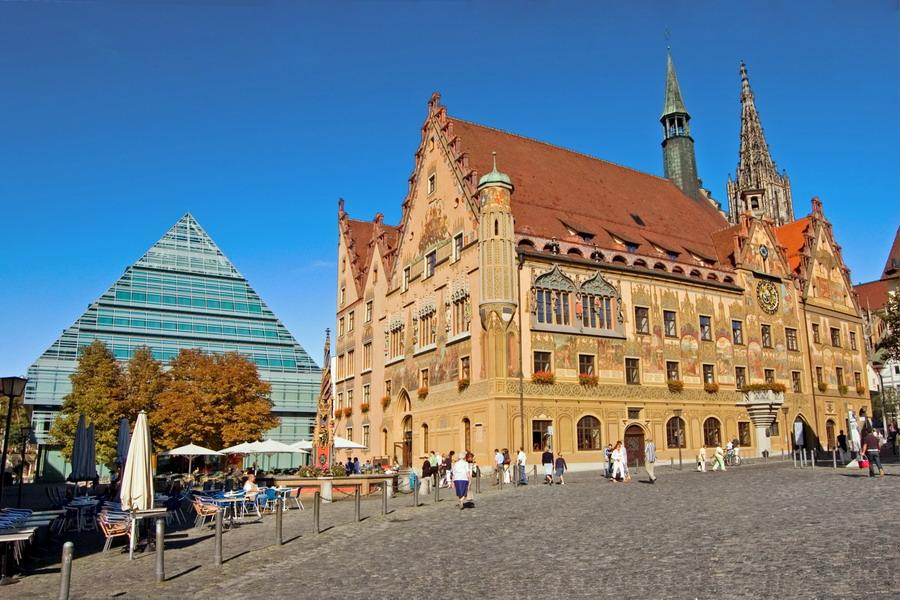 Ulm Bibliothek Rathaus; Ulmer Münster