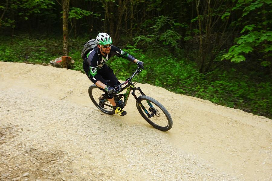 Mountainbike-Trail bei Blaustein