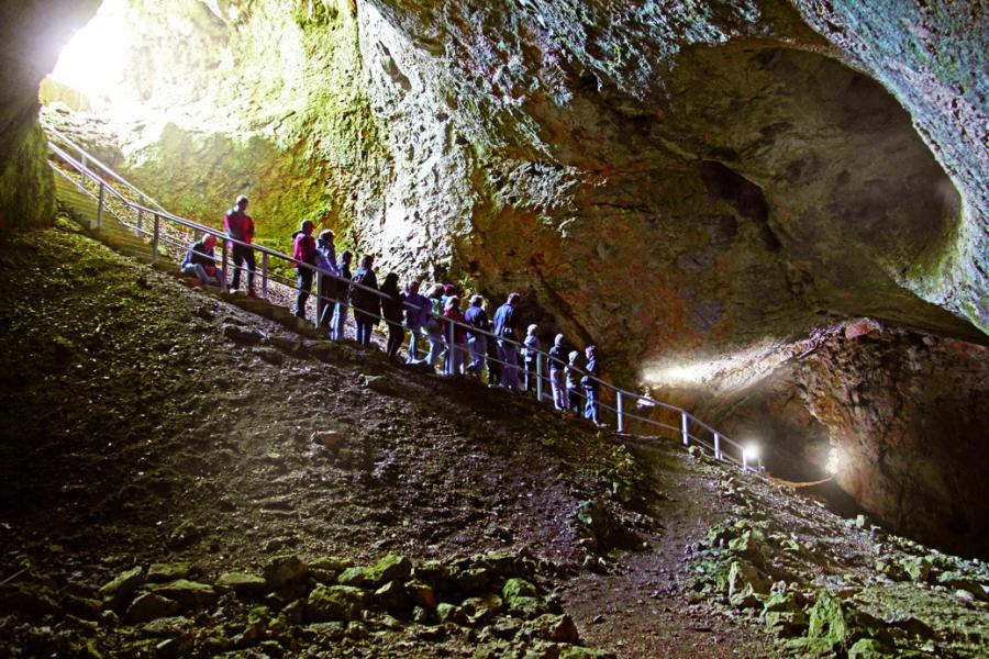Eiszeitpfad Sontheimer Höhlentour Alb-Donau-Kreis; Sontheimer Höhle - älteste Schauhöhle