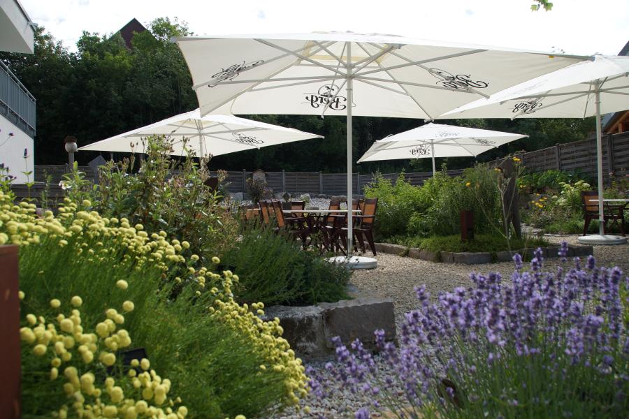 Kräutergarten im Hotel Rose in Ehingen-Berg