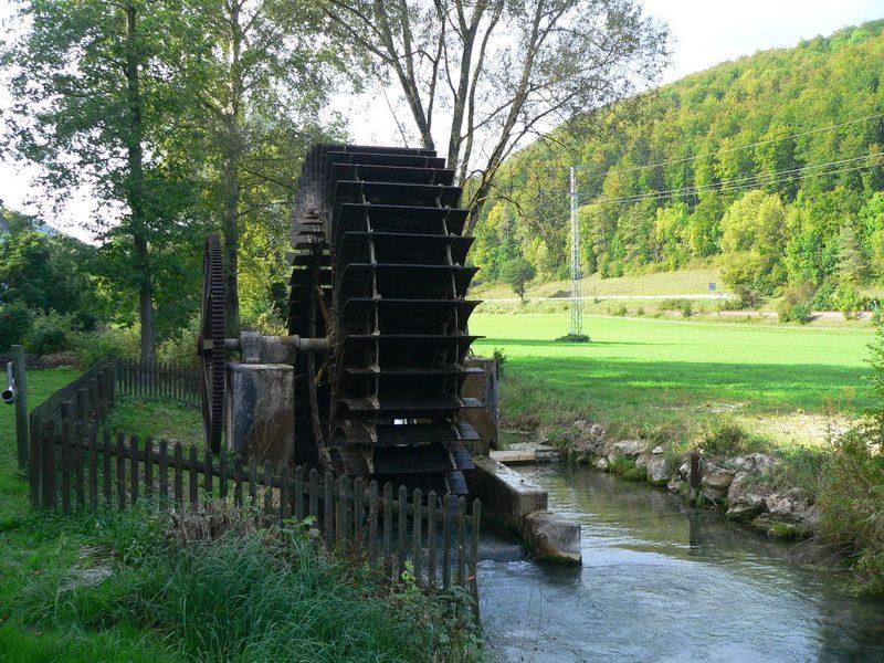 Schelklingen-Talsteußlingen Wasserrad 2006