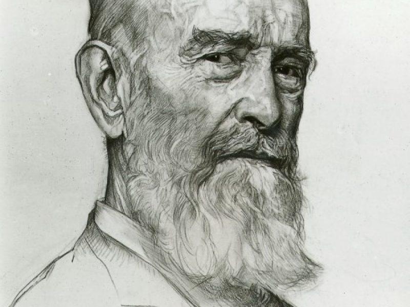 Zeichenporträt von Robert-Bosch